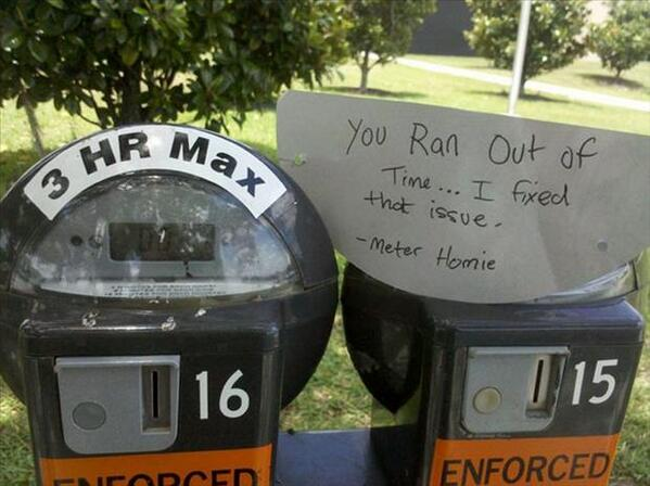 Meter charge paid - random act of kindness