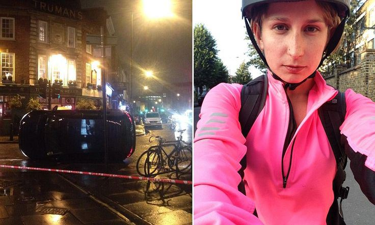 'They saved my life': Injured cyclist praises passers-by who lifted car off her after she was run over. Claire Pepper suffered only a broken collarbone thanks to rescuers. Around 10 people lifted the car off her following a collision in Spitalfields, east London.