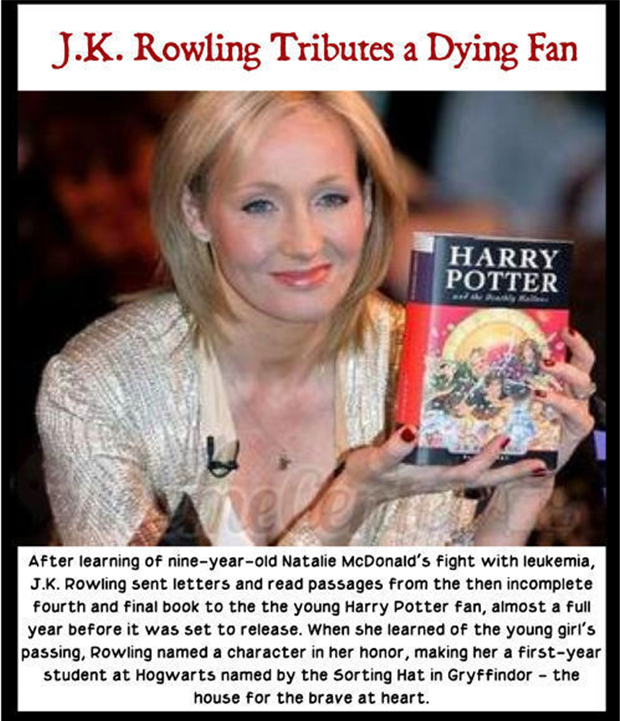 JK Rowling helps dying fan with her kindness