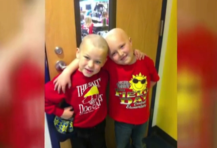 """But he wasn't done there. One day, Vincent showed up to Mrs. Koester's class wearing a cap. """"…He pulls off his stocking cap and here I see that he shaved his head,"""" said his teacher."""
