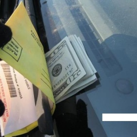 Found this parking ticket for $100.00 paid by a complete stranger. Faith in humanity restored!