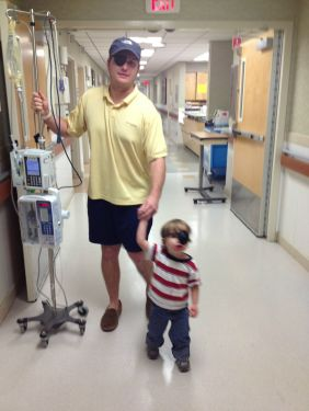 Helping His Dad To Walk Again