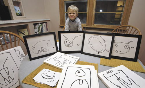Four-year-old Max Rice raises money for leukemia by painting monsters
