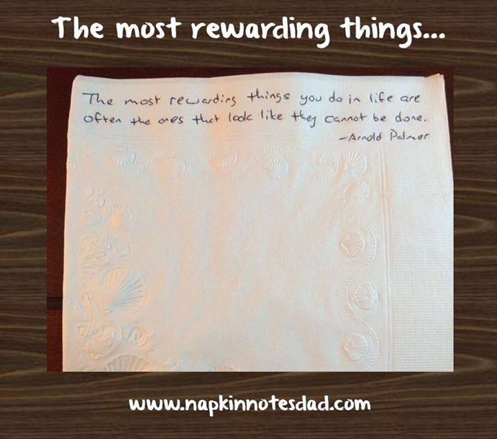 Napkin Notes Dad Quote