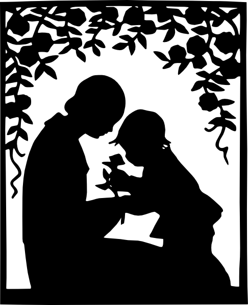 mother_and_child_silhouett