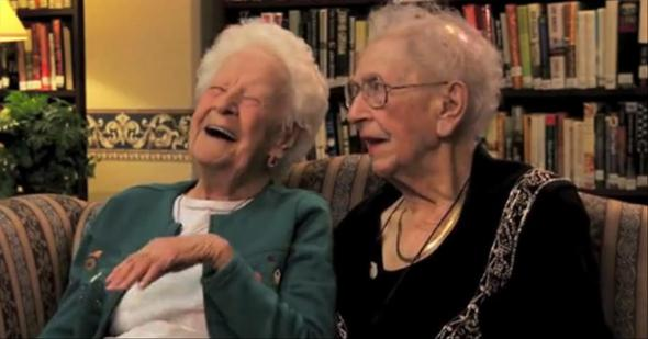 100 Year Old Best Friends - alice and irene