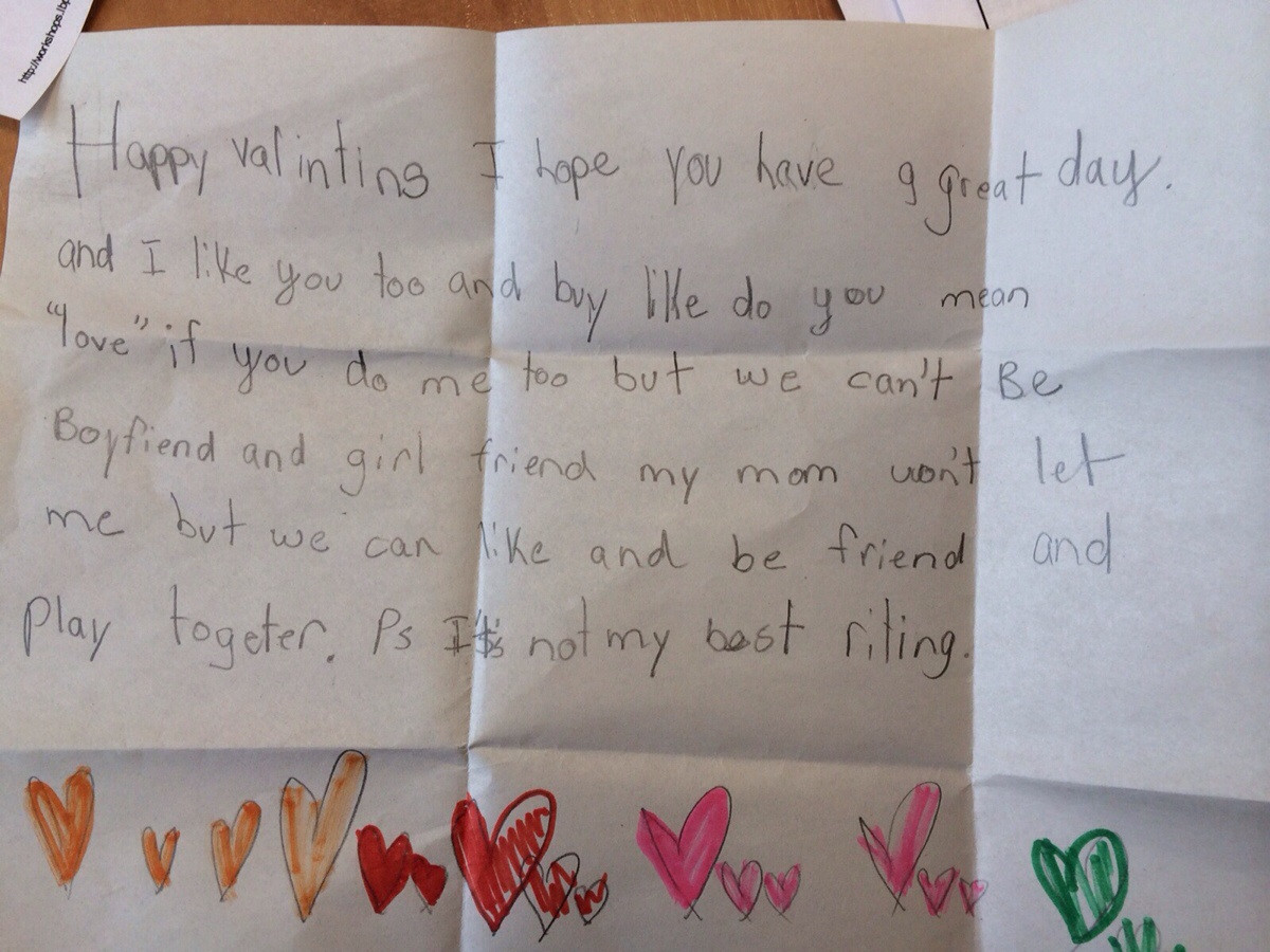 An Elementary School Love Note  Kindness Blog