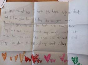 An Elementary School Love Note