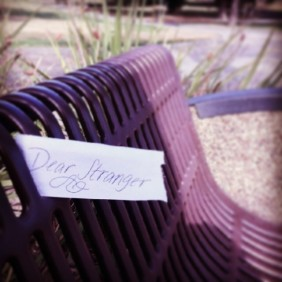 #randomactsofkindness are contagious. On my lunch break today I walked to the nearby #cemetery and left a #lettertoastranger on a bench. #raok #dearstranger #payitforward shannon carr