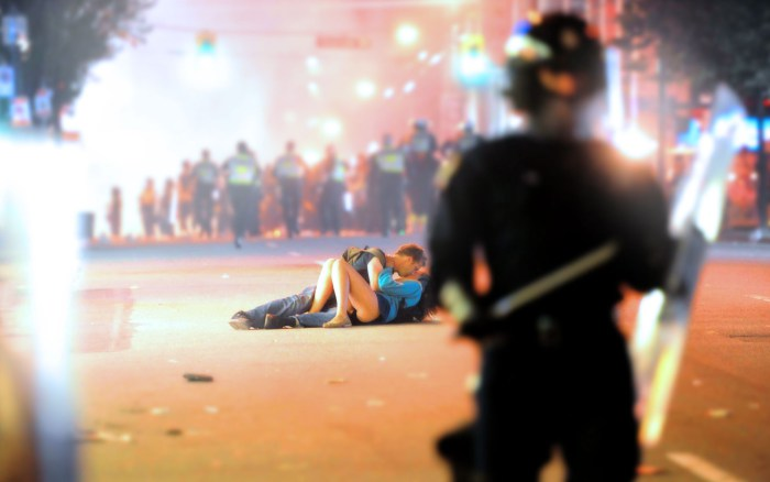 The Vancouver Riot Kissing Couple