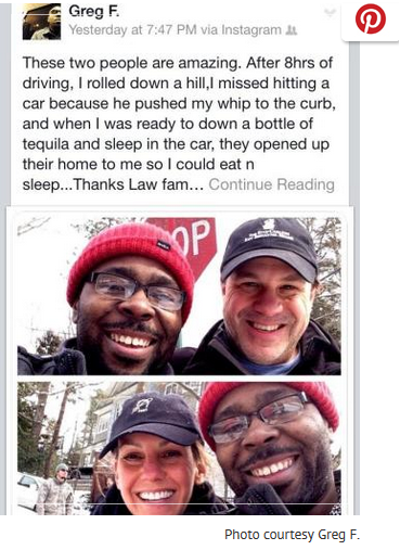 man receives random act of kindness