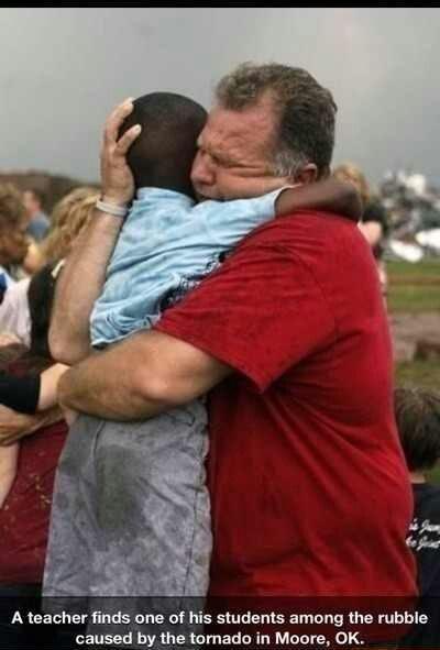 Teacher and Student Reunited After a Tornado
