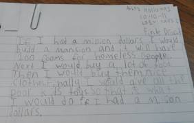 Dad Finds a Sweet Note in his Daughter's Folder at School