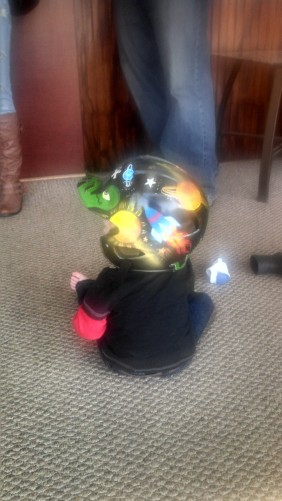 A Painted Helmet of Love