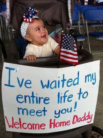 This beautiful little girl is not so lucky than the previous. Being almost one year old she has never seen his daddy yet. When she was born her father was still fighting in Afganistan.