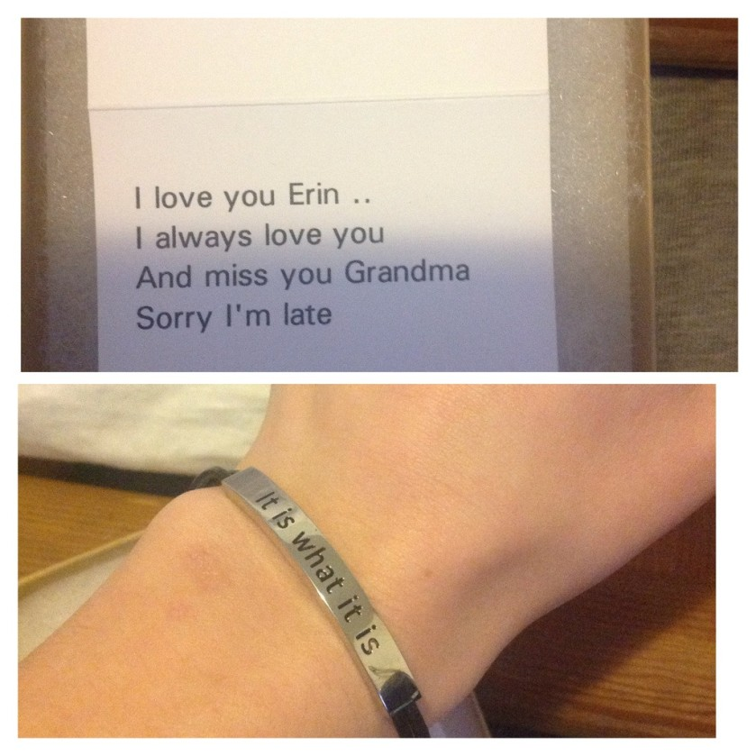 """My grandma passed away two days ago from a stroke. Today, this came in the mail as a belated birthday gift. I instantly broke down in tears."""