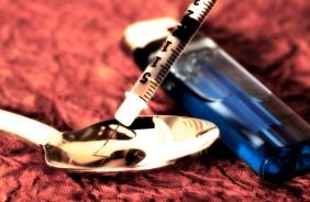shooting up heroin