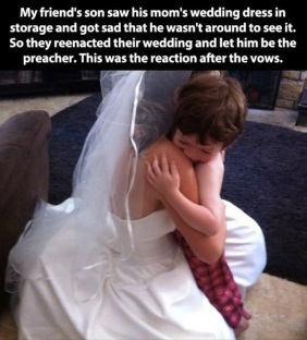 Couple Re-Enact Their Wedding for the Little one