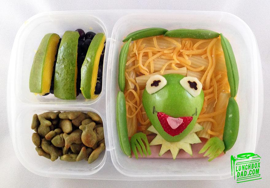 lunchbox dad makes creative sandwiches and snacks for his daughter s school lunch kindness blog. Black Bedroom Furniture Sets. Home Design Ideas