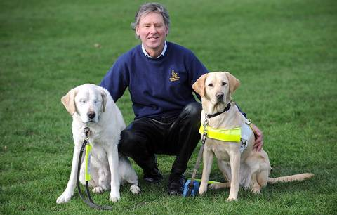 Seeing-eye dog loses both eyes, owner gets another to see for them all.