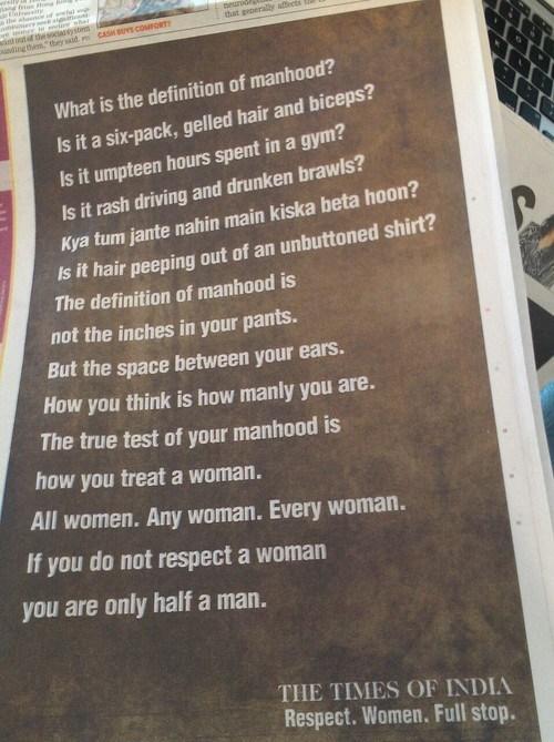 Respect. Women. Full Stop.