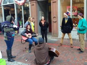 random people jamming on the street