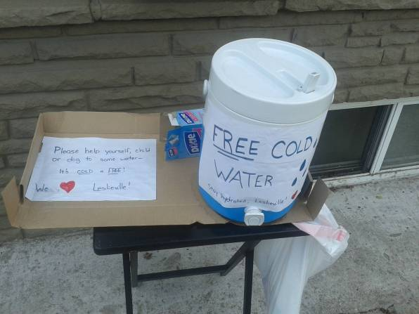 free cold water - kindness