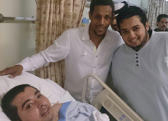 Hundreds of visitors cue outside of Riyadh hospital to get a chance to meet Ibrahim, the latest social media star