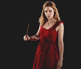 hermione-granger-in-a-red-dress