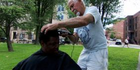 On the Road Haircuts for the homeless CBS News Video