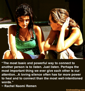 listening is kindness