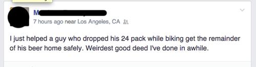 facebook kindness beer