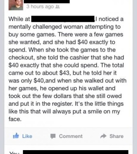 A Cashier's Sweet Act of Kindness