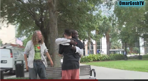 Giving The Homeless New Shoes and Shirt Off Back