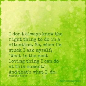 Katrina Mayer Quote on a Green Background