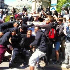 Man tries to start KKK rally