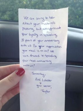 red lobster kindness
