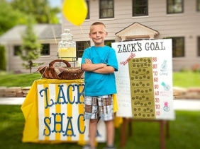 Zack Francom, owner of Zack's Shack lemonade stand
