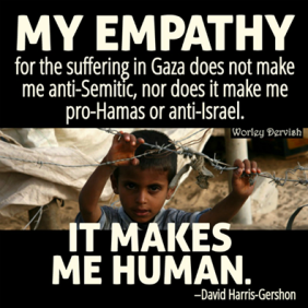 empathy for the suffering in gaza