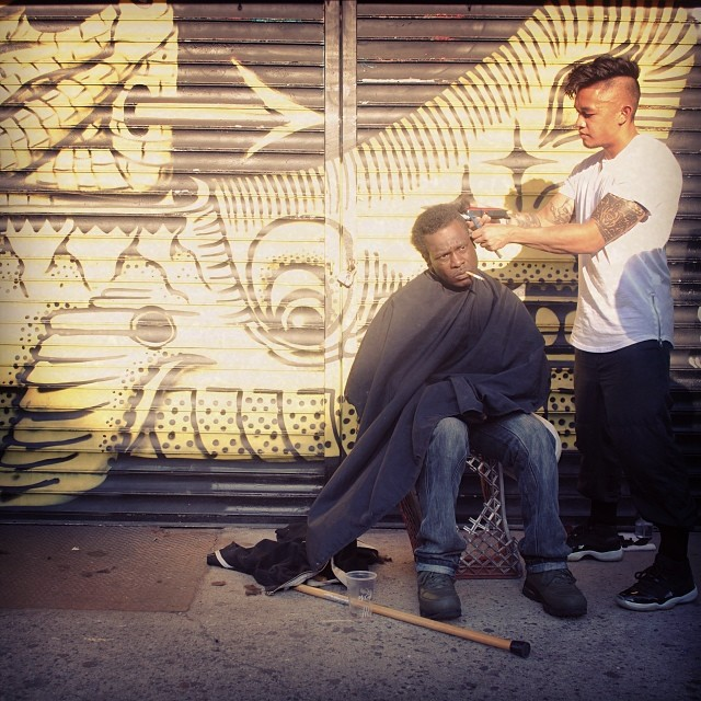 mark bustos haircuts for the homeless