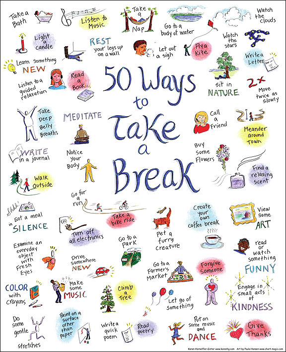 50 Ways to Take a Break – Self Kindness – Kindness Blog