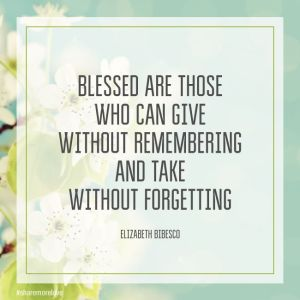 Quote About Blessings on a Flower Print