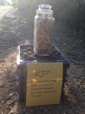 a little random act of kindness along the bike trail
