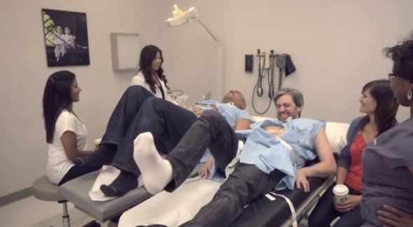 Labor Pain Simulator for Two Men as The Wives Sit Nearby - VERY FUNNY!