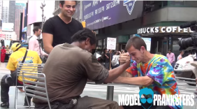 Making Homeless Guys Arm Wrestle For Money!