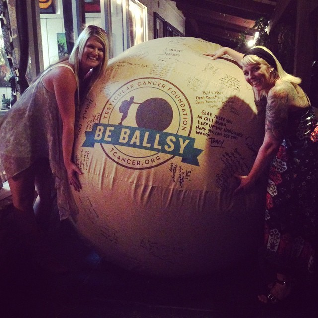 Donate A Testicle For Money >> This Man is Pushing a 6-foot Inflatable Testicle Across ...