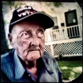 Elwyn Caldwell, 90, in Auburn, N.Y., Wednesday, Sept. 3, 2014. (Kevin Rivoli | krivoli@syacuse.com)