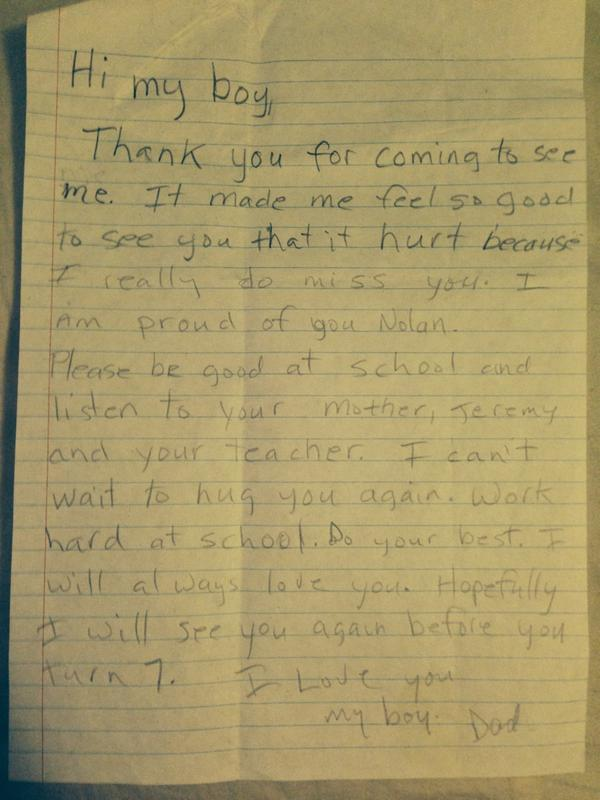 Read this touching letter from a father in prison to his young son read this touching letter from a father in prison to his young son spiritdancerdesigns Gallery