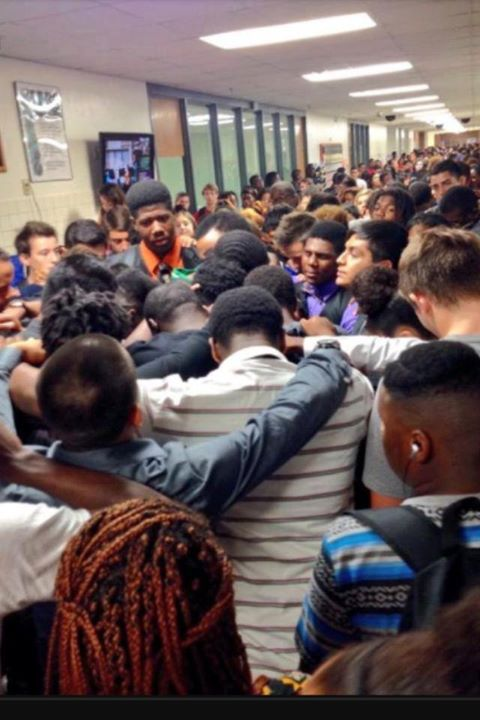 Group Hug for Teen Athlete Grieving Mother's Loss