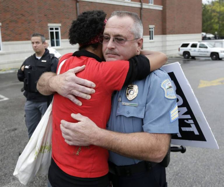 Sister Dragonfly approached a Ferguson officer